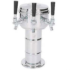 Enlarge MTM-3PSS Chrome 3 Faucet Mini-Mushroom Draft Beer Tower - 4 Inch Column