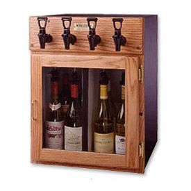 Enlarge WineKeeper 2x2-ORN - Napa 4 Bottle Wine Dispenser Preservation Unit - Oak