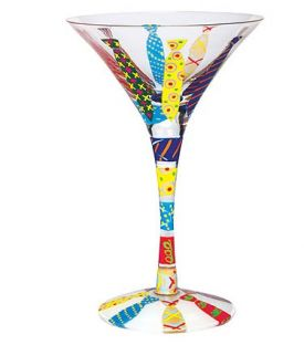 Enlarge Not Another Necktie Martni Glass by Lolita Love my Martini