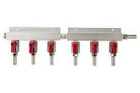 Enlarge 751-021 - Aluminum 6-Way Keg Beer Air Line Distributor