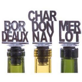 Enlarge Varietal Bottle Stopper Set (Set of 3) - Bordeaux, Chardonnay & Merlot