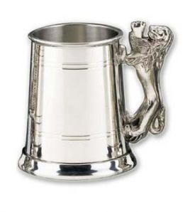 Enlarge Pewter Lion Handle Beer Tankard
