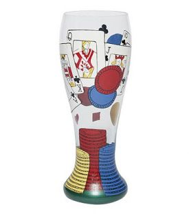 Enlarge Poker Pilsner Glass by Lolita Gotta Love Beer Collection