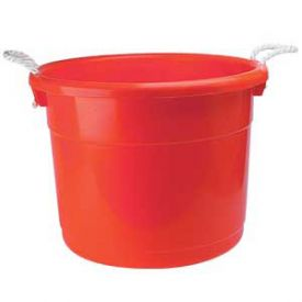 Enlarge Brute - 19 Gallon Red Keg Bucket with Rope Handles