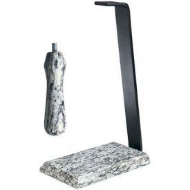 Enlarge Rogar 0406 White Wave Granite Table Stand & Handle Set