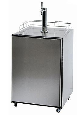 Enlarge Summit SBC-500SSPST Full-Size Beer Cooler - Stainless Steel Door & Top, Platinum Sides