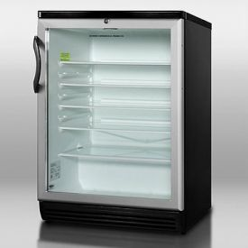 Enlarge Summit SCR600BL 5.5 cf Glass Door All Refrigerator - Black