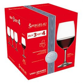 Enlarge Spiegelau Vino Grande Bordeaux Wine Glass Value Pack, Buy 3 get 4