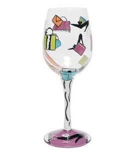 Enlarge Shopaholic Too Wine Glass by Lolita Love My Wine Collection