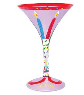 Enlarge Sixty is Sexy Martni Glass by Lolita Love my Martini