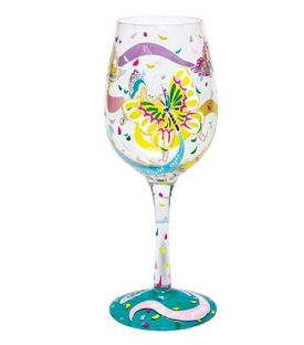Enlarge Social Butterfly Wine Glass by Lolita Love My Wine Stemware Collection