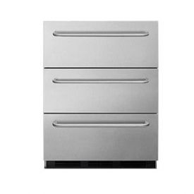 Enlarge Summit SPF5DSSTB 3 Drawer Undercounter All Freezer
