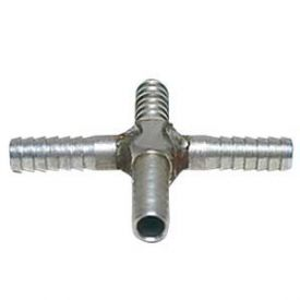 Enlarge Stainless Steel Cross Fitting for 1/4 Inch I.D. Tubing
