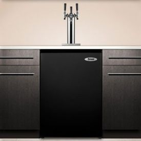 Enlarge Summit SBC490BITRIPLE Triple Faucet Built-in Kegerator - Black