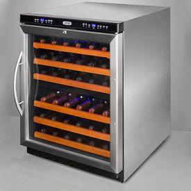 Edgestar 36-Bottle Built-In French Door Dual-Zone Wine Cooler