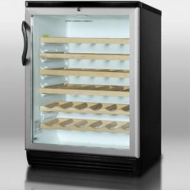 Enlarge Summit SWC6GBL 51-Bottle Wine Refrigerator - Black