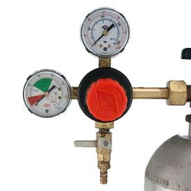 Enlarge Taprite T742HP - Primary Double Gauge CO2 Gas Beer Regulator with Polyethylene Knob