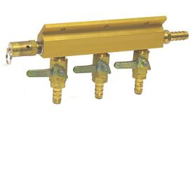 Enlarge 1743S - Aluminum Three-Way Air Distributor with Safety