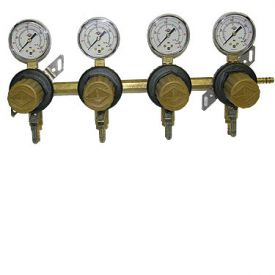 Enlarge T1694ST Four Product Secondary Co2 Regulator by Taprite
