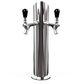 Enlarge GFA152-2 - Gefest 2 Air - Brushed Stainless Steel 2-Faucet Beer Tower - Air Cooled
