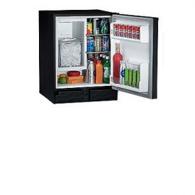 Enlarge U-Line CO29BTP-20 220V Black Marine Combo Ice Maker Refrigerator