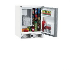 Enlarge U-Line CO29WHTP-20 220V White Marine Combo Ice Maker Refrigerator