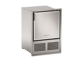 Enlarge U-Line SS1095FD-03 110V Stainless Steel Marine Crescent Ice Maker - Flush to Door
