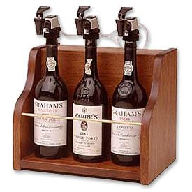 Enlarge WineKeeper The Vintner 3 Bottle Wine Dispenser Preservation - Mahogany Cabinet