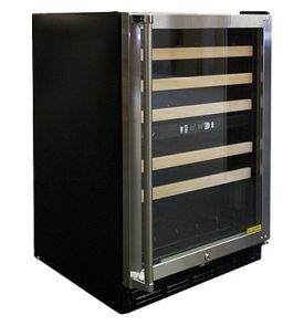 Enlarge Vinotemp VT-45SB Dual Zone 45-Bottle Wine Cooler - Stainless Steel