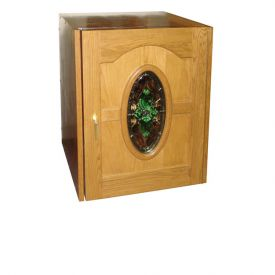 Enlarge Vinotemp 114 Napoleon Wine Cabinet - Single Oval Glass Door - 80 Bottle Count