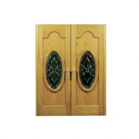 Enlarge Vinotemp Napoleon 230 Wine Cellar - Two Oval Glass Doors - 160 Bottle Count