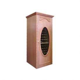 Enlarge Vinotemp Napoleon 250 Wine Cellar - Single Oval Glass Door - 160 Bottle Count
