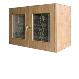 Enlarge Vinotemp Credenza 296B Wine Cellar w/ Beveled Glass Door - 224 Bottle Count