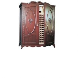 Enlarge Vinotemp Louis Napa 700 Luxury Wine Cellar - Two Grape Motif Doors - 400 Bottle
