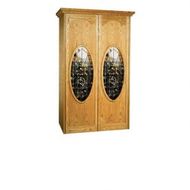 Enlarge Vinotemp Napoleon 700 Wine Cellar - Two Oval Glass Doors - 440 Bottle Count
