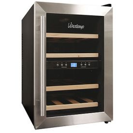 Enlarge Vinotemp VT-12TEDS-2Z 12-Bottle Thermoelectric Dual Zone Wine Cooler