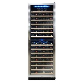 Enlarge Vinotemp VT-155SBW - 155 Bottle Dual Zone Touch Screen Wine Cooler