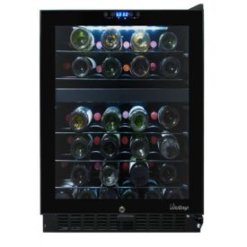 Enlarge Vinotemp VT-46TS-2Z - 46 Bottle Dual-Zone Touch Screen Wine Cooler