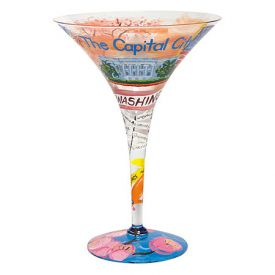 Enlarge Washington DC-tini Glass by Lolita Love my Martini