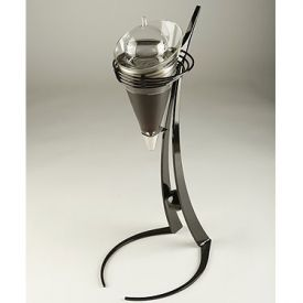 Enlarge RoJaus Gemini Wine Aerator Decanter & Stand - Black