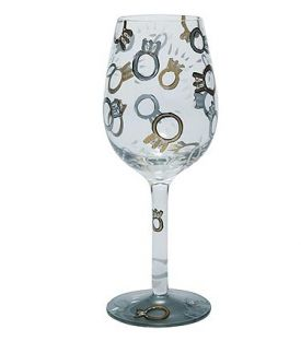 Enlarge Wedding Toast Wine Glass by Lolita Love My Wine Collection