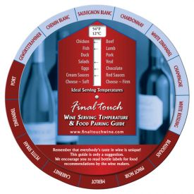 Enlarge Final Touch Wine Wheel: Wine Temperature & Food Pairing Guide