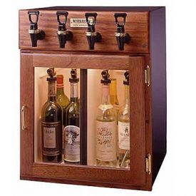Enlarge WineKeeper 2x2-MRN - Napa 4 Bottle 2 Red 2 White Wine Dispenser Preservation Unit - Mahogany
