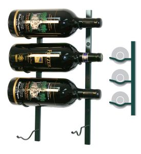 Enlarge Vintage View WS-BIG1-K - 4-Bottle BIG Series Wine Rack - Black Satin Finish