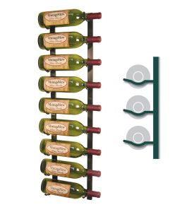 Enlarge WS31-BRASS - 9 Bottle Vintage View Wine Rack - Brass Finish