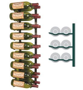 Enlarge Vintage View WS32-K - 18 Bottle VintageView Wine Rack - Satin Black Finish
