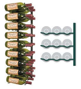 Enlarge Vintage View WS33-K - 27 Bottle VintageView Wine Rack - Satin Black Finish