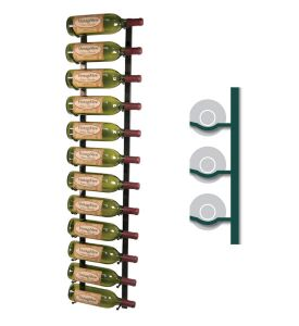 Enlarge WS41-K - 12 Bottle Vintage View Wine Rack - Black Satin Finish