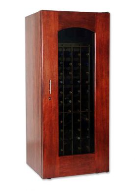 Enlarge Le Cache 1400 Series 172 Bottle Wine Cellar - Classic Cherry Finish