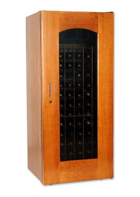 Enlarge Le Cache 1400 Series 172 Bottle Wine Cellar - Provincial Cherry Finish